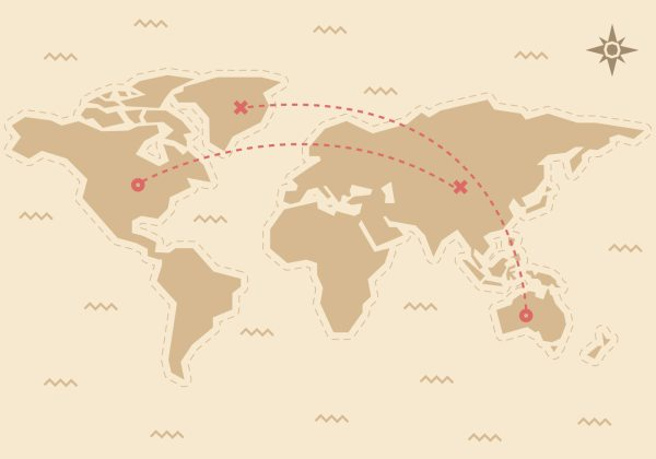 Free Traveling World Map Vector Download Free Vectors