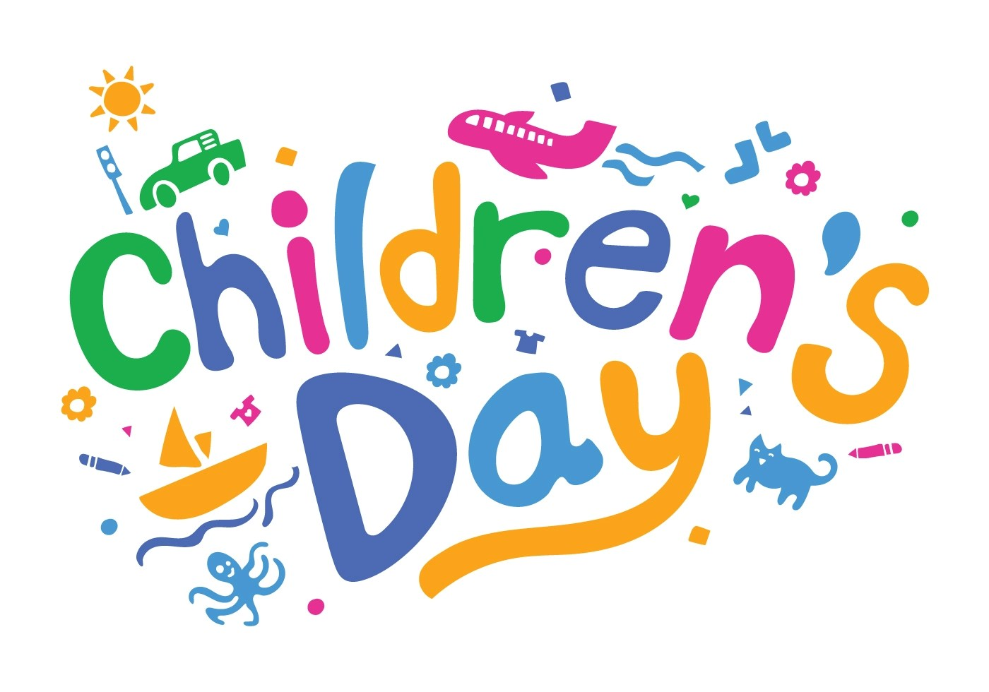 Fun Childrens Day Vector Illustration