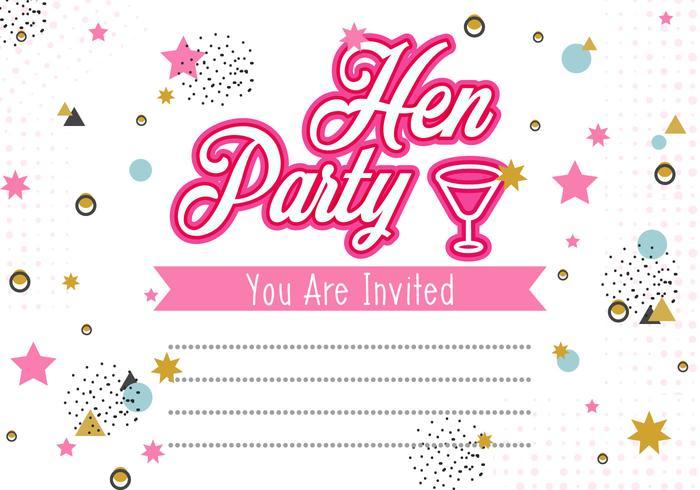 hen party invitation template