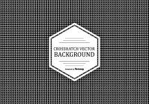 Crosshatch Pattern Background - Free Vector Art