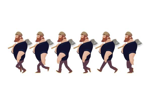 Cartoon Walk Cycle