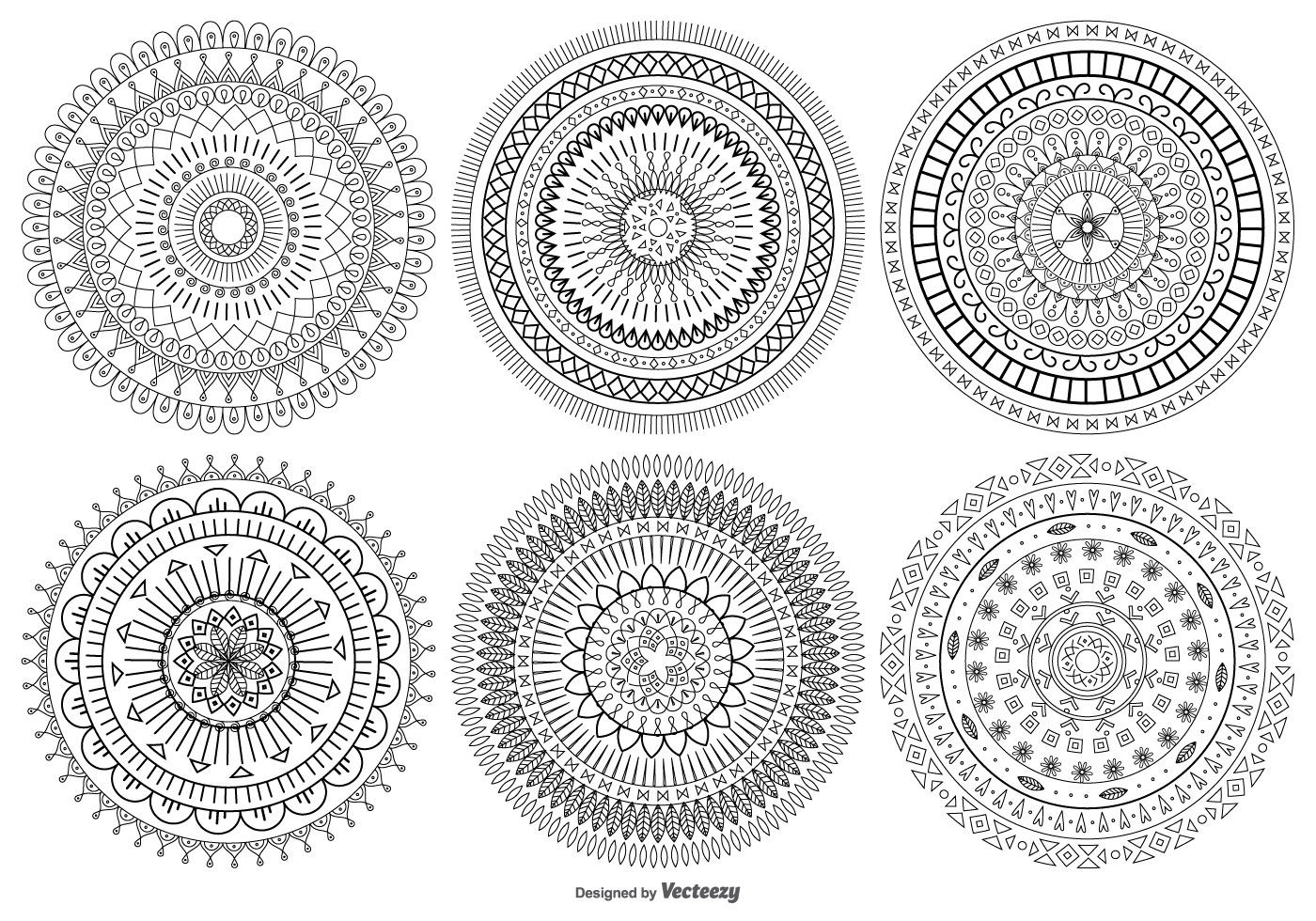 Mandala Style Vector Shapes Collection Download Free