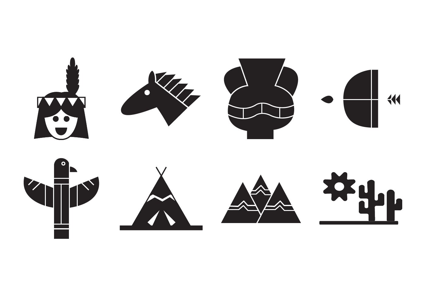 Free Indian American Icons Vector