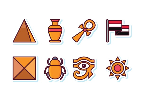 Free Egypt Icon Set - Vector Art Stock