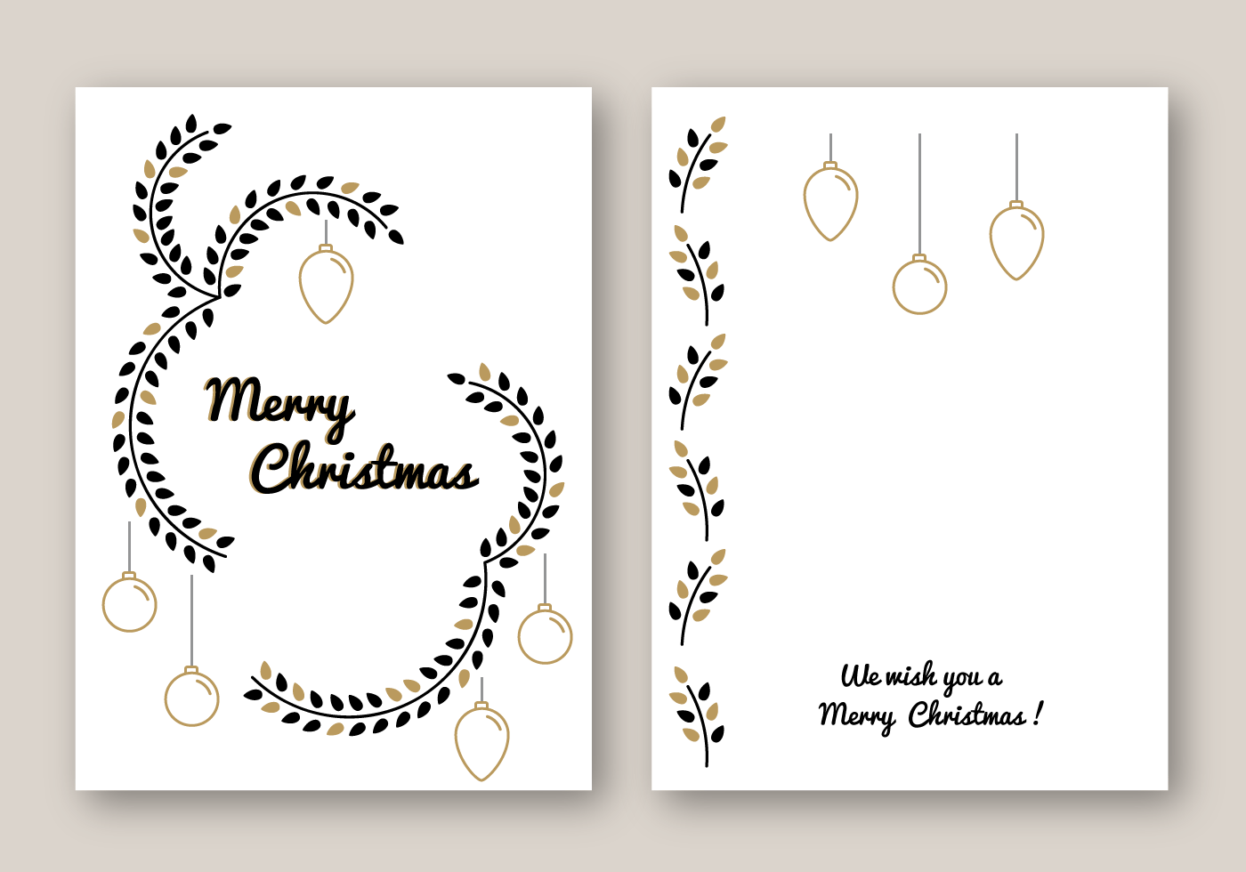 Free Merry Christmas Card Vector Download Free Vector