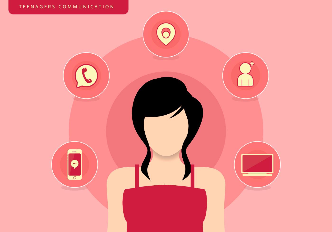 Teenagers Girl Communication