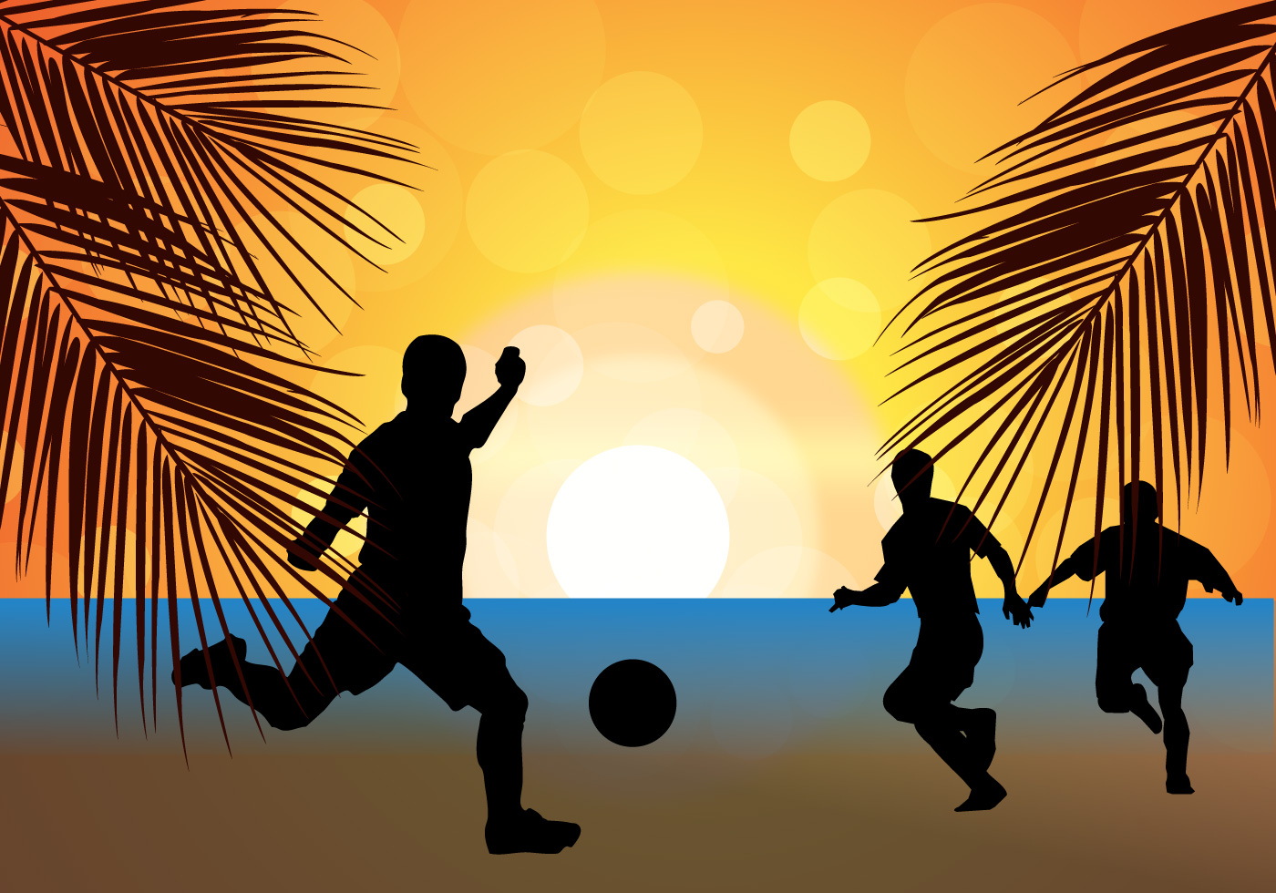 Girl By Beach Wallpaper Sqaure Football Silhouette Free Vector Art 8626 Free Downloads