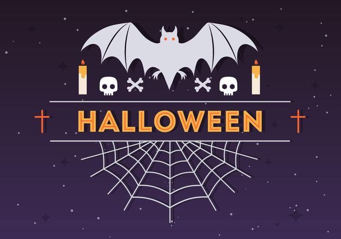 halloween spider and bat