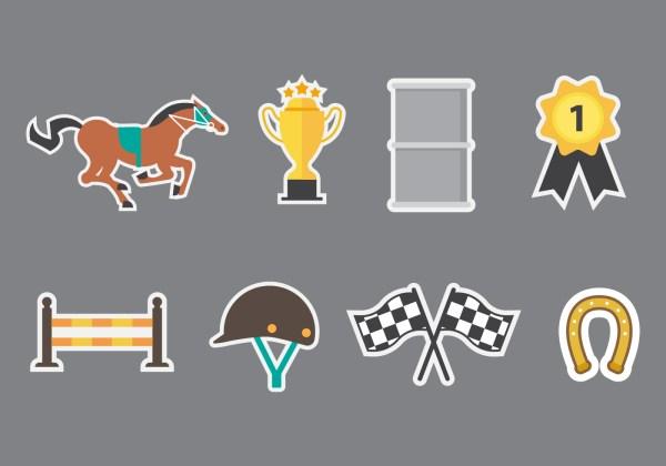 Free Barrel Racing Icons Vector - Art