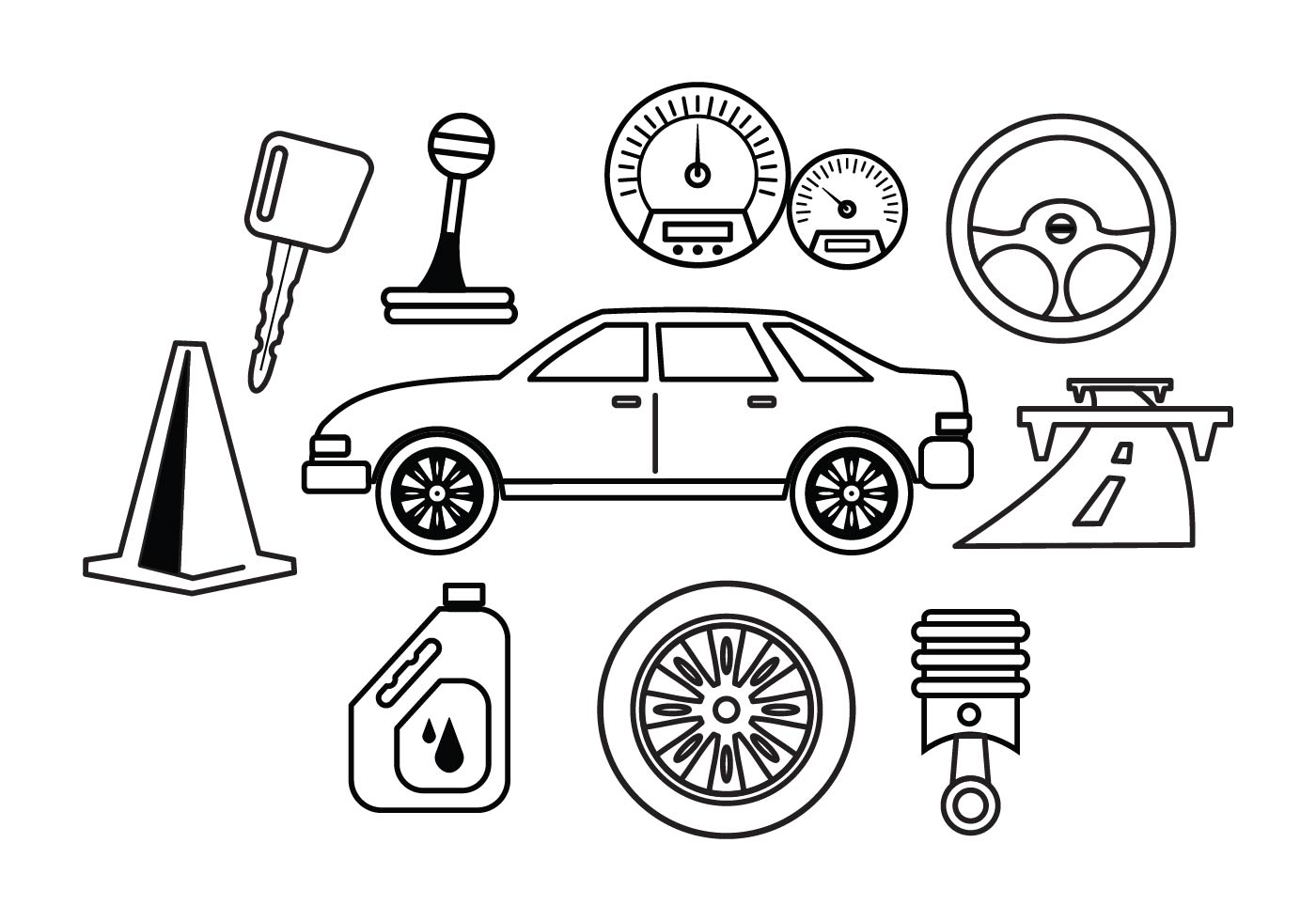 Free Car Maintenance Vector