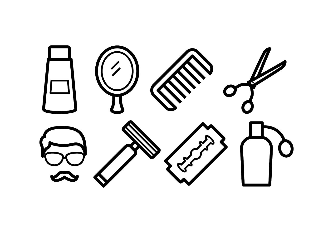 Barber Tools Free Vector Art