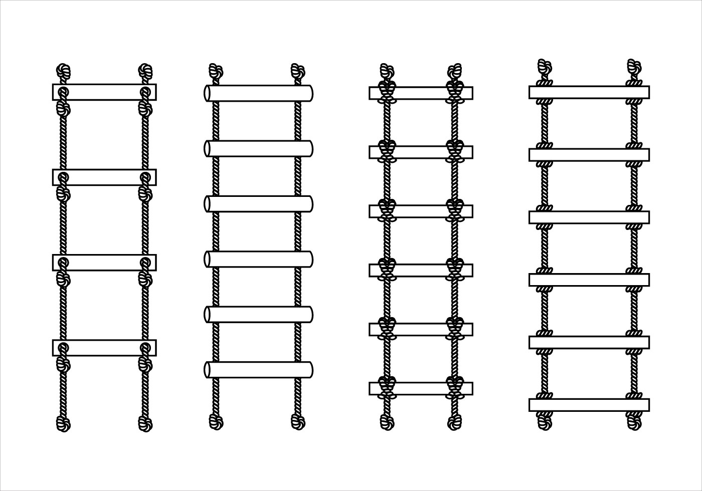 Rope Ladder Outline Free Vector