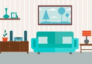 vector livingroom living clipart furniture vectors flat graphics resources