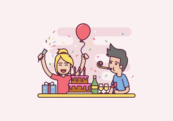 Free Birthday Party Illustration - Vector