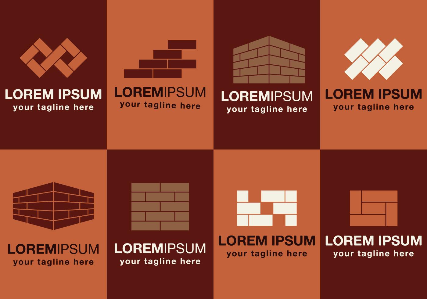 Masonry Logos Set Download Free Vector Art Stock