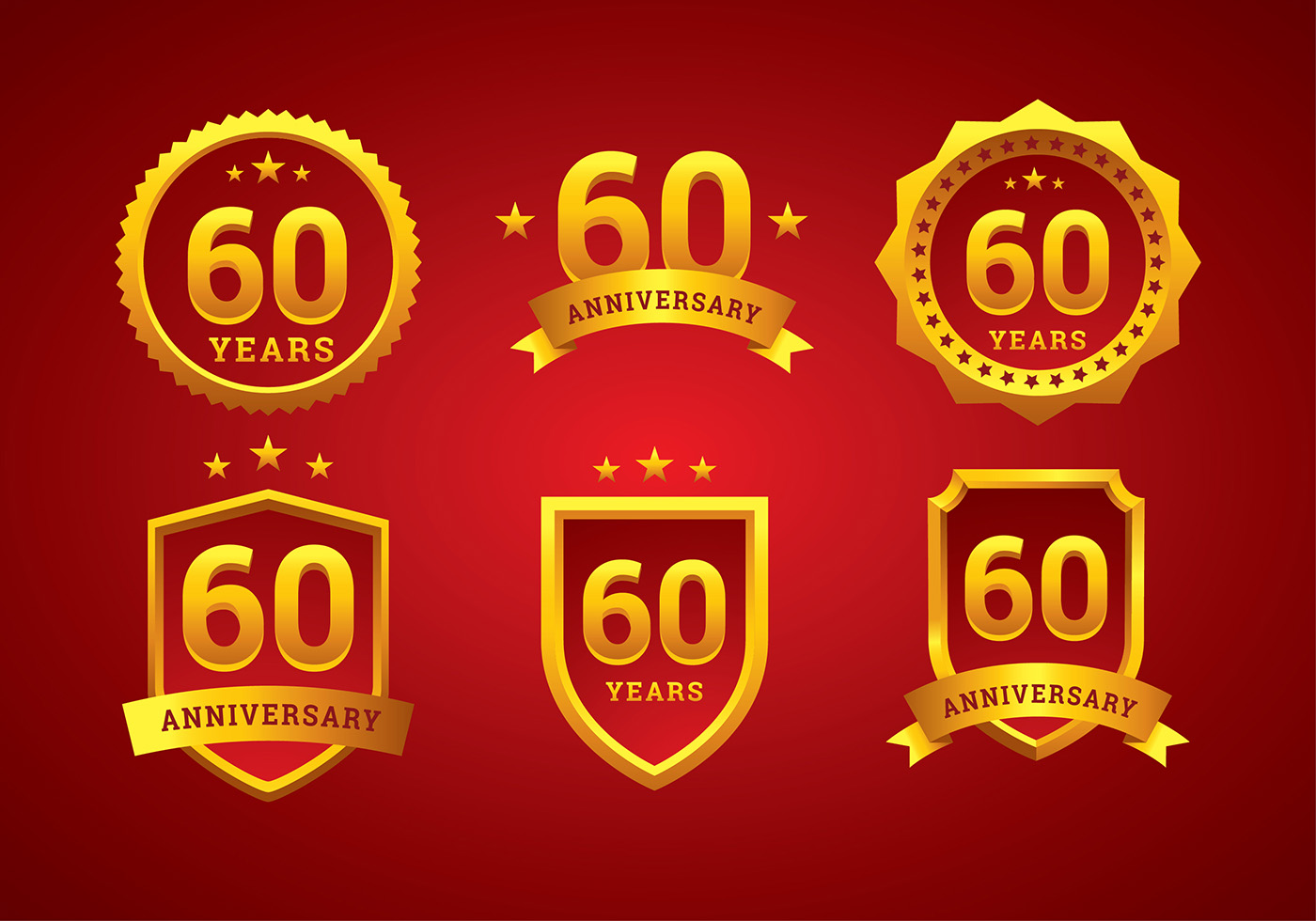 60th Anniversary Logo Gold Free Vector Download Free