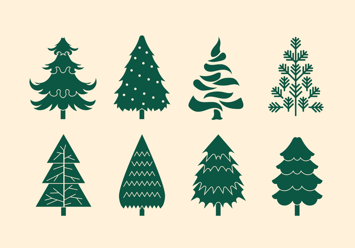Vector Collection Of Christmas Trees Or Sapin Download