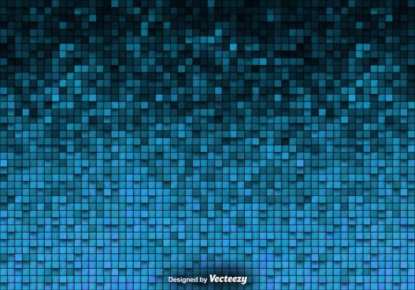 Tiled Background Vector Blue Tiles - Free