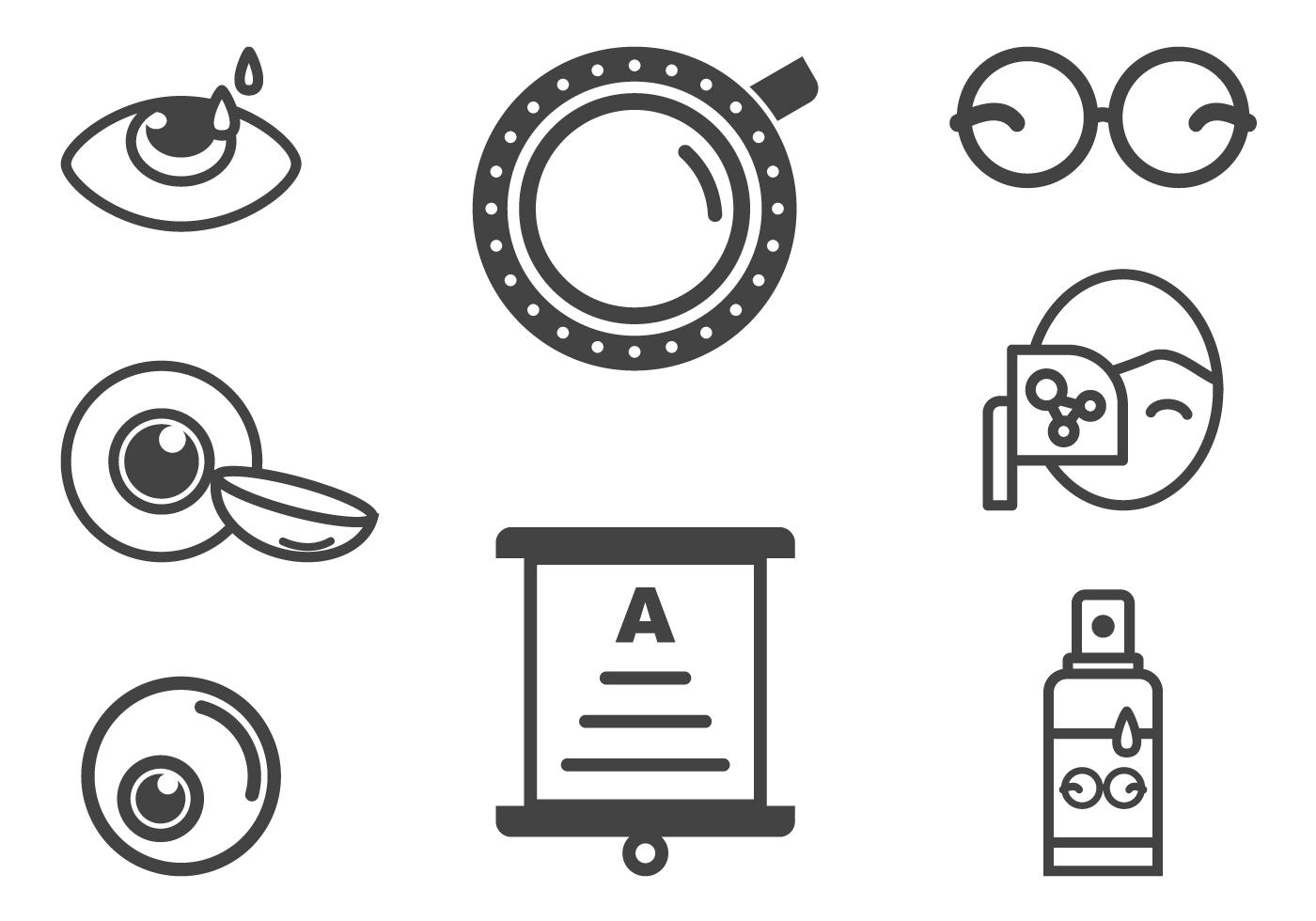 Optometry And Eye Health Icons