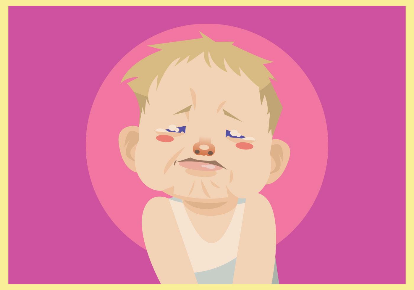 Little Cute Baby Girl Wallpaper Crying Baby Boy Vector Download Free Vector Art Stock