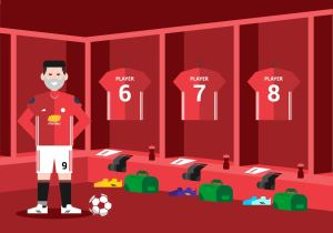 dressing background soccer vector clipart vectors