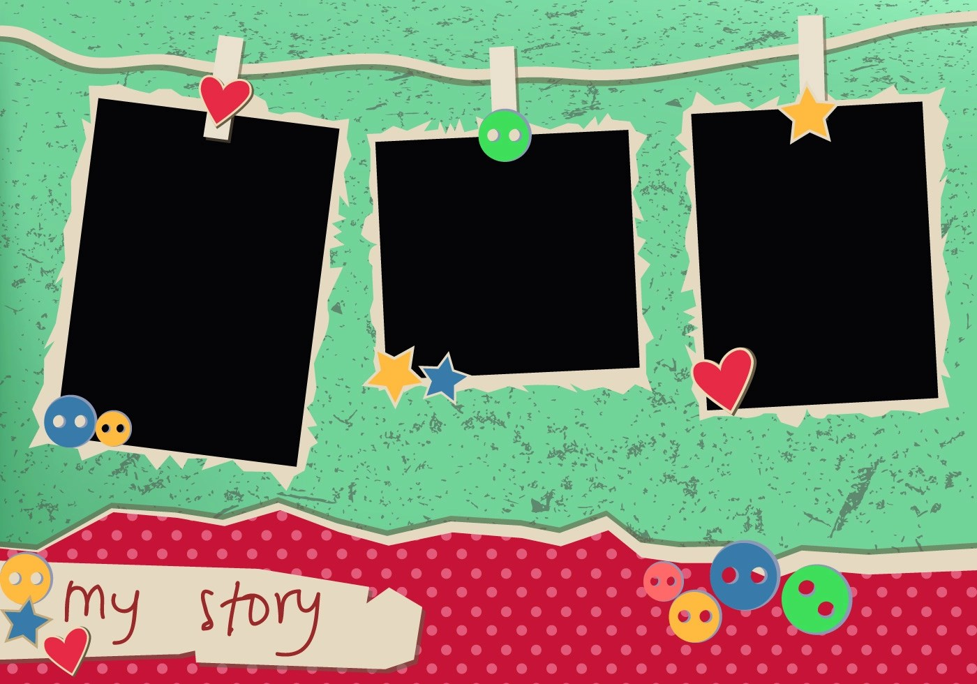 My Story Vintage Polaroid Frames Download Free Vector