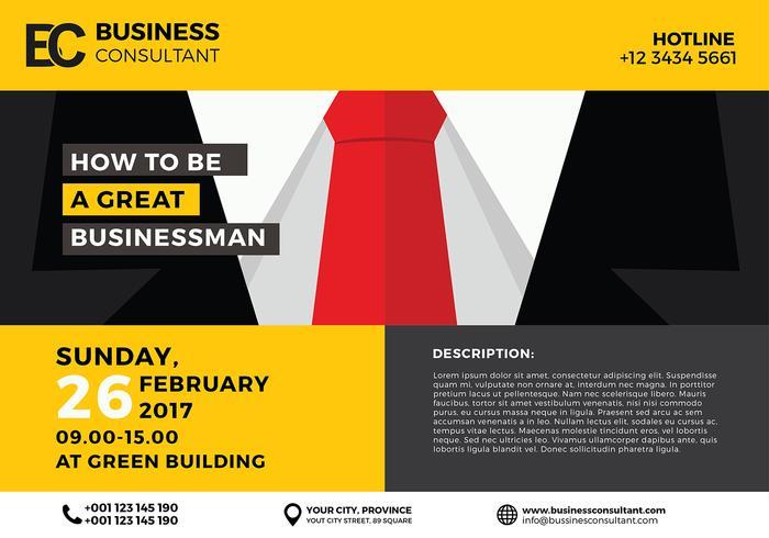 Money Falling Wallpaper Business Seminar Poster Template Vector Download Free