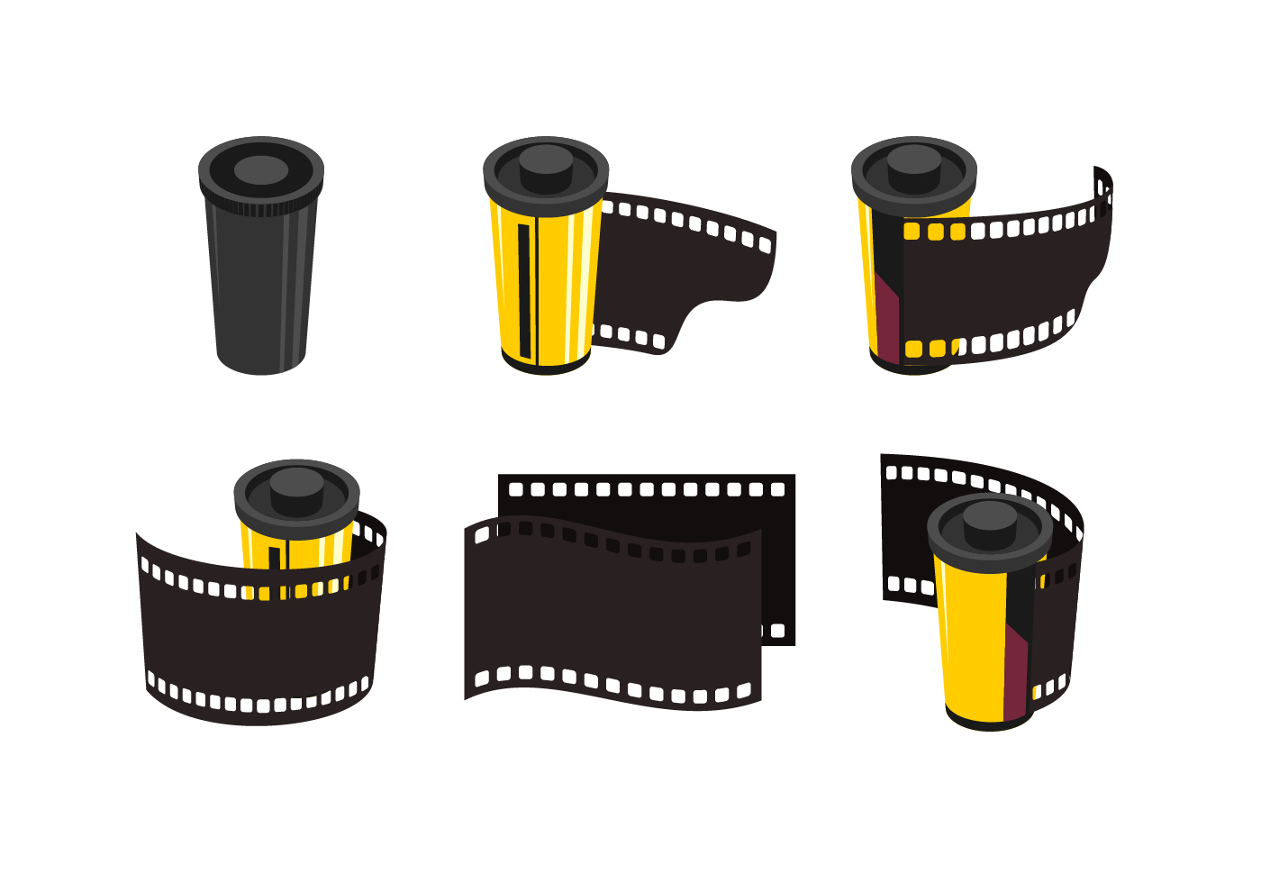 Film  Canister Vector Collection  Download Free Vector