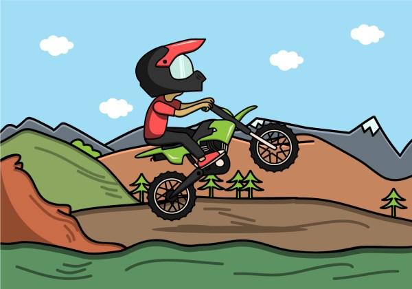 SVG Dirt Bike Rider Jumping