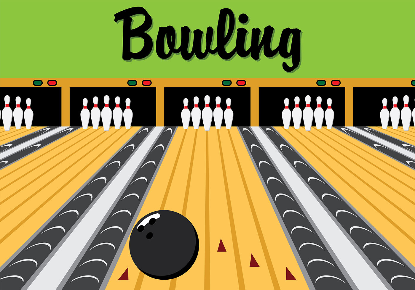hight resolution of retro bowling lane vector download free vector art stock graphics images
