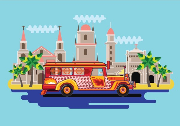 Filipino Jeepney Vector - Free Art Stock Graphics &