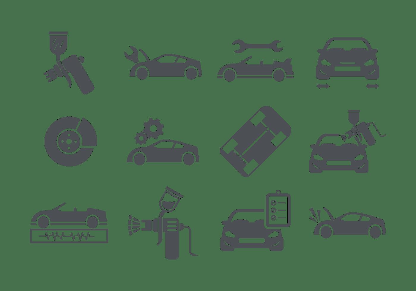 Auto Body Icons Vector