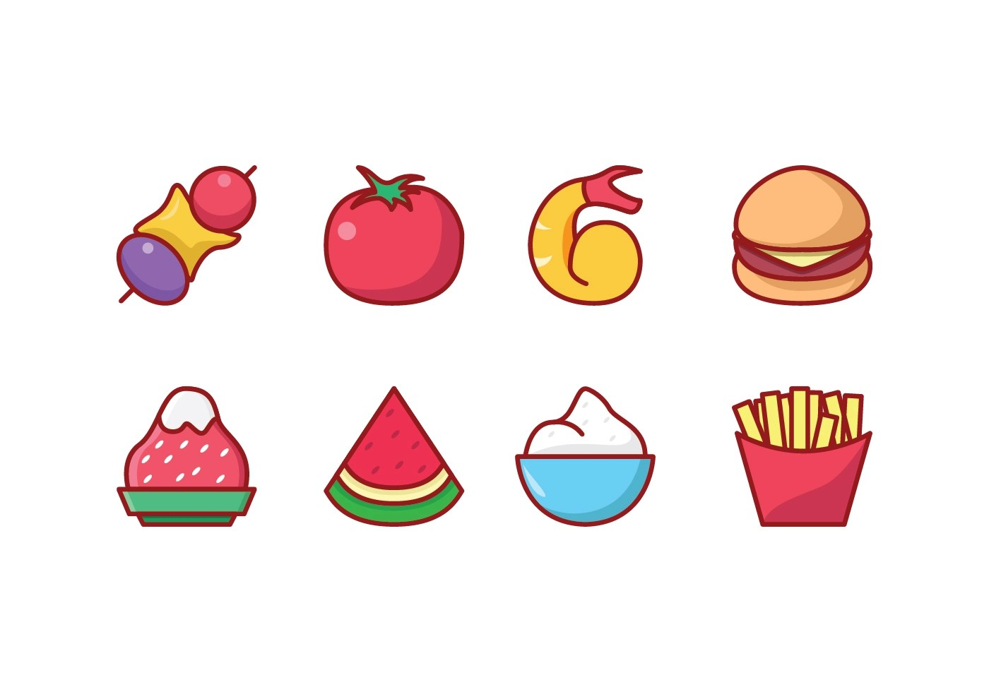 Fruit And Vegetable Graphics Icon