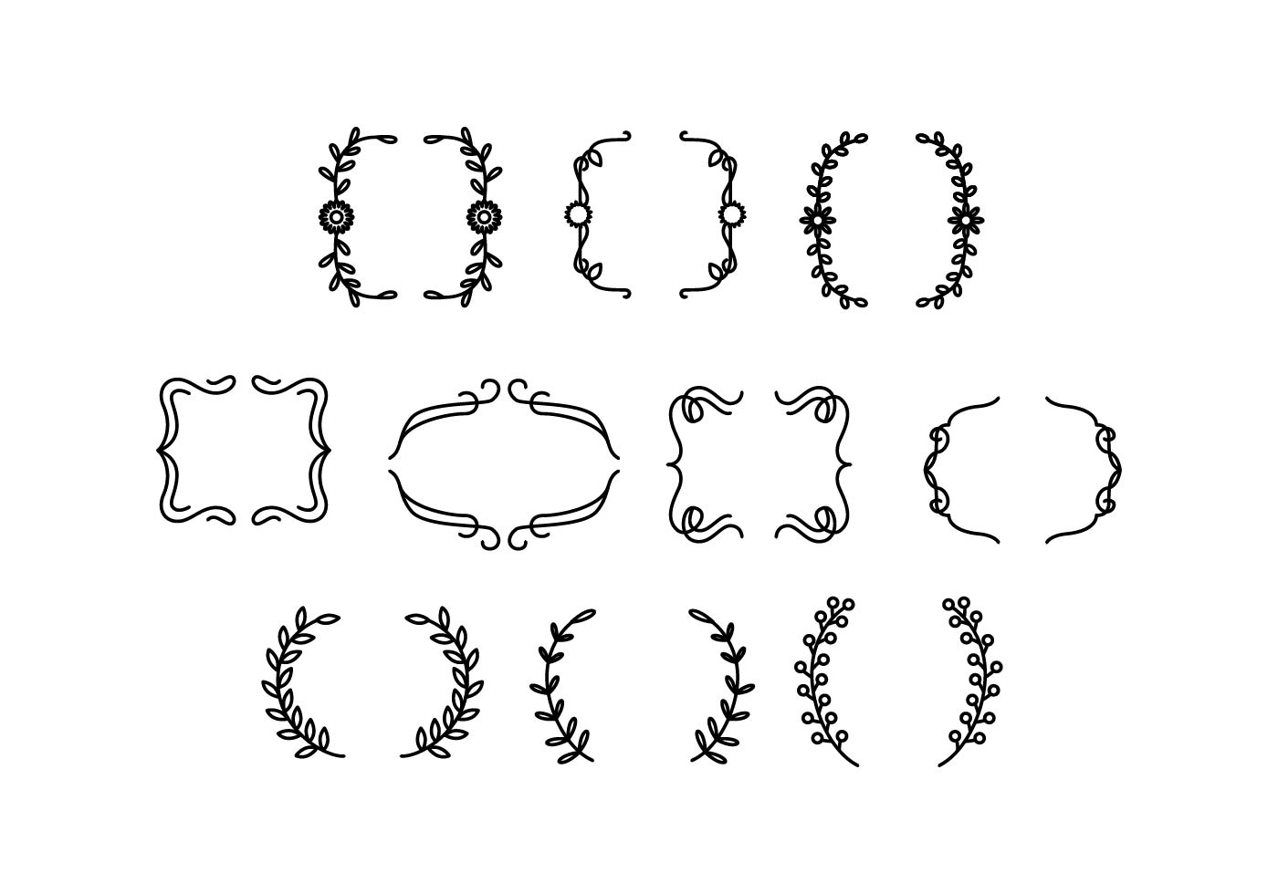 Free Ornamental Bracket Vector
