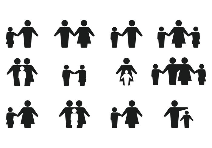 simple silhouette family icon