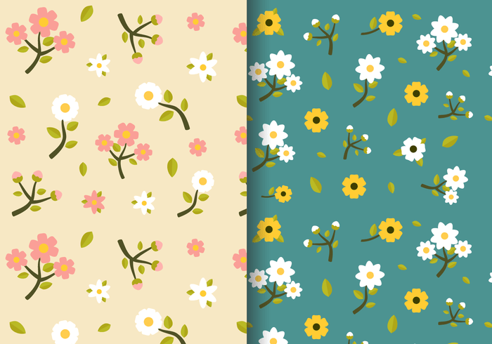 Fall Chevron Wallpaper Free Vintage Spring Floral Pattern Download Free Vector
