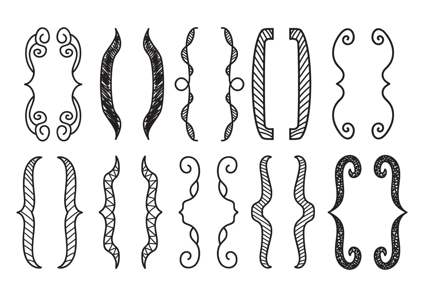 Free Hand Drawn Bracket Vector