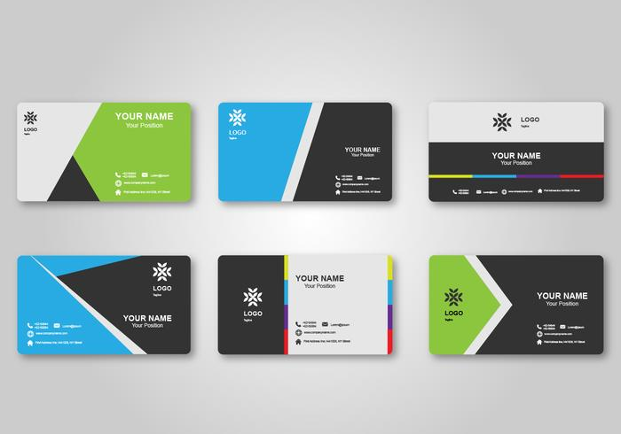 Bright Blank Business Card Design Download Free Vector