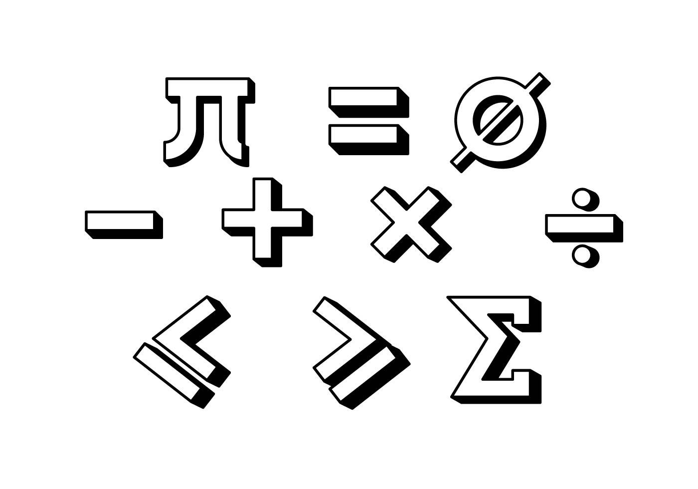 Free Math Symbol Vector