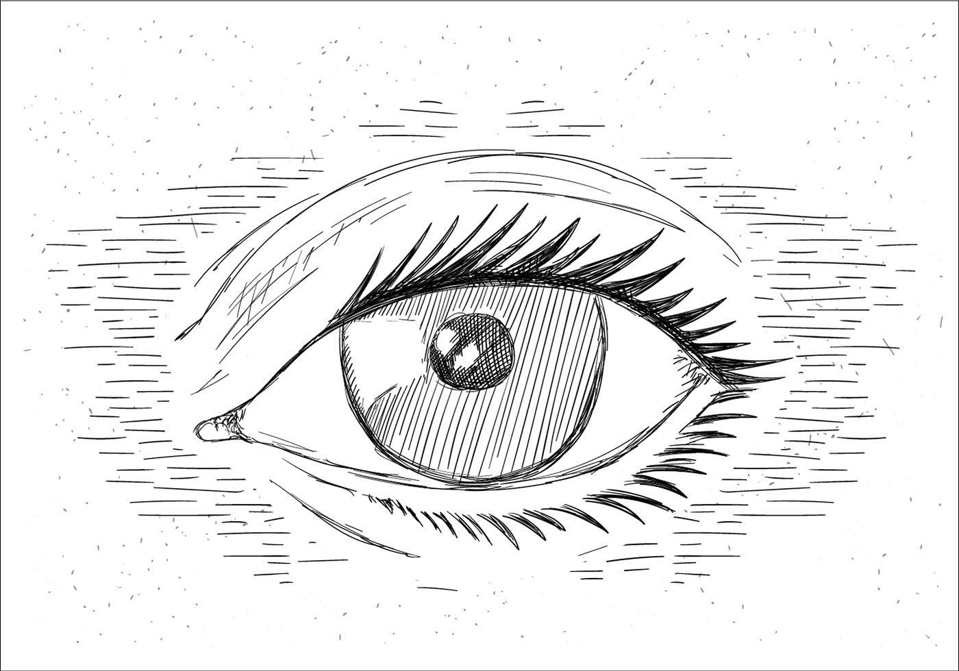 Hand Drawn Vector Eye