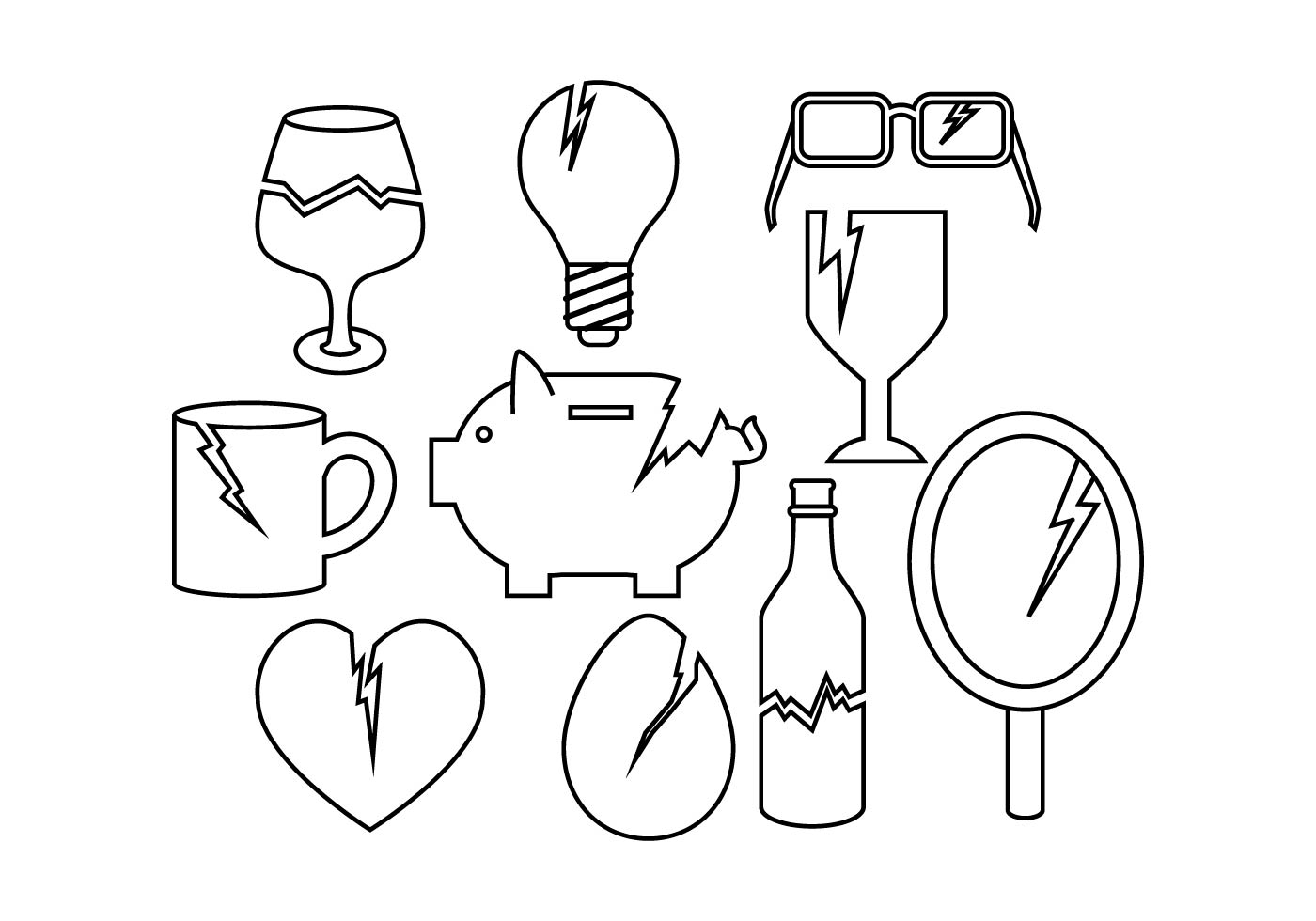 Free Broken Things Icon Vector