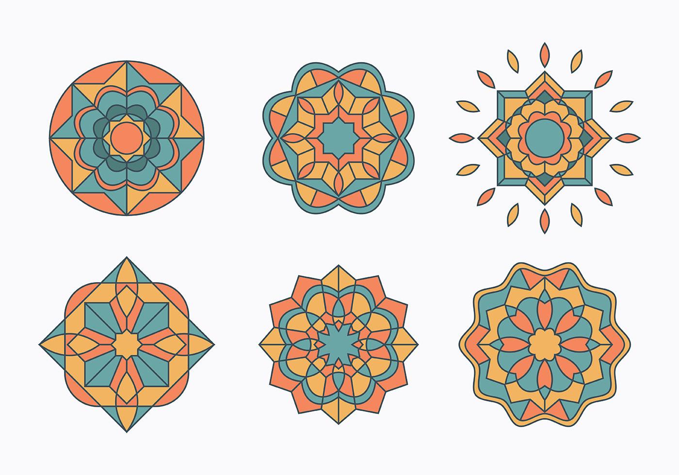 Islamic Ornaments Set  Download Free Vector Art Stock Graphics  Images
