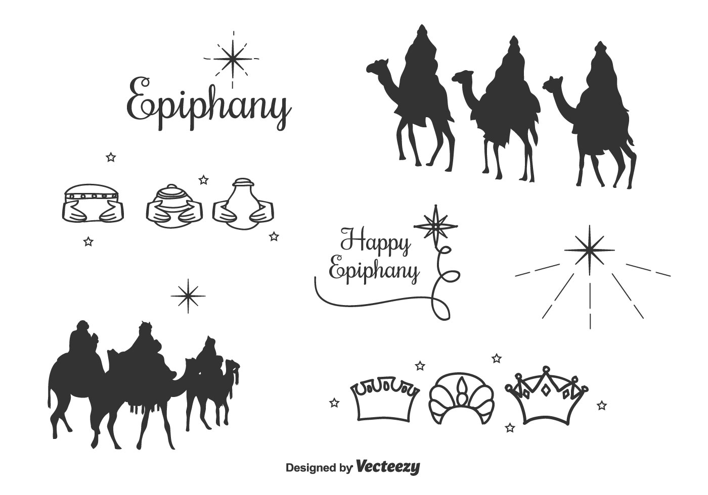 Epiphany Icons Vector Set