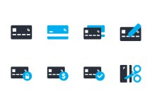 Credit Card Flat Icon - Free Vector Art Stock