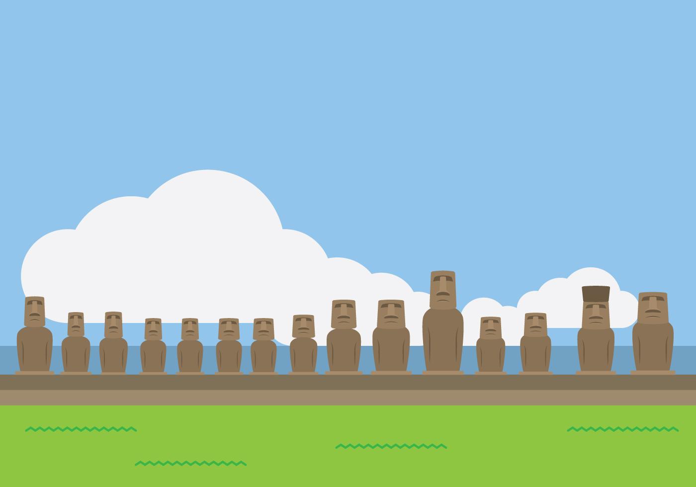 Moai Statue Landmark  Download Free Vector Art Stock