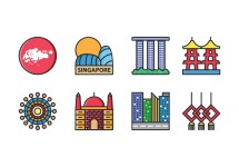 Singapore Icon Vector Free