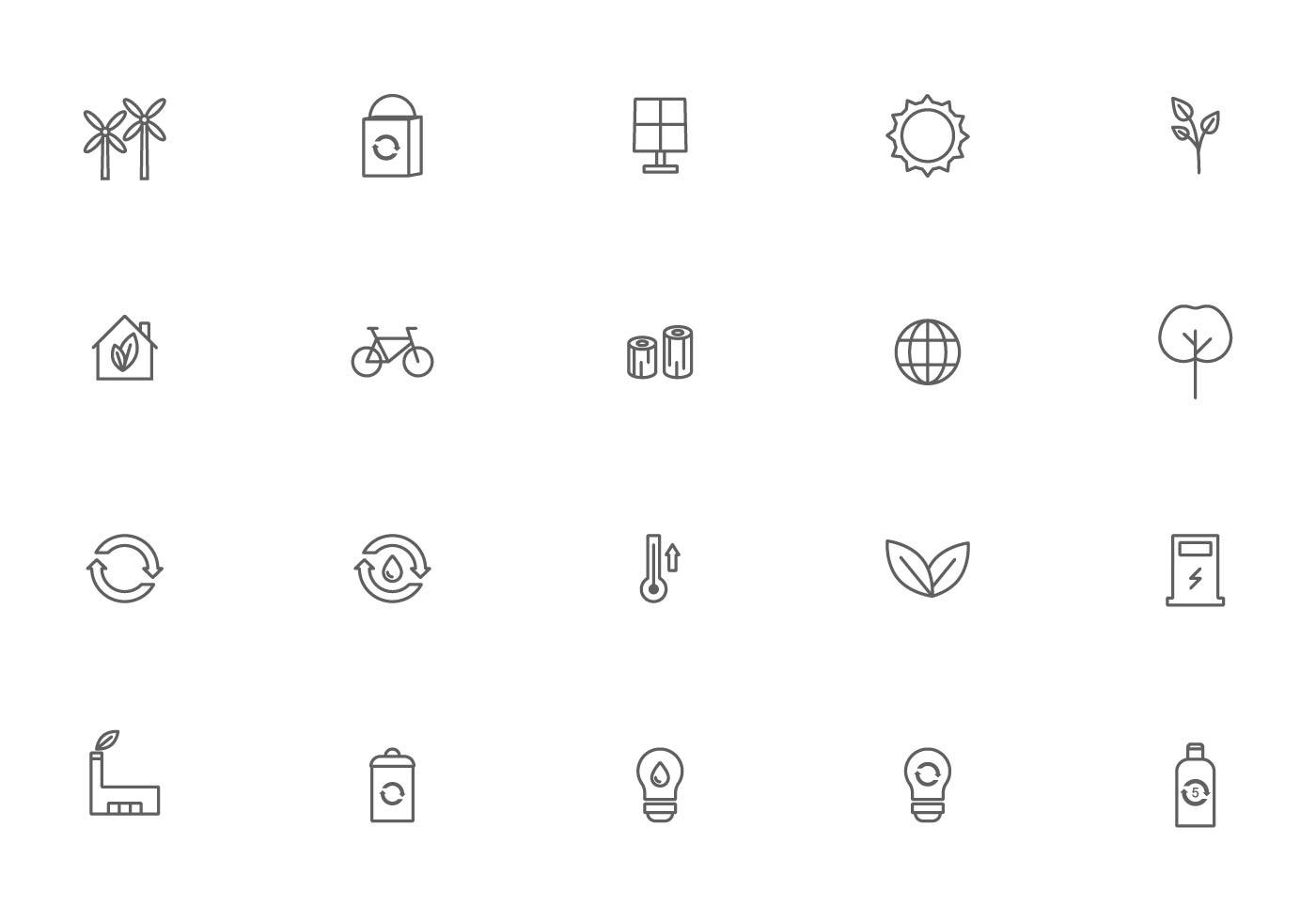 Energy Icons Free Vector Art