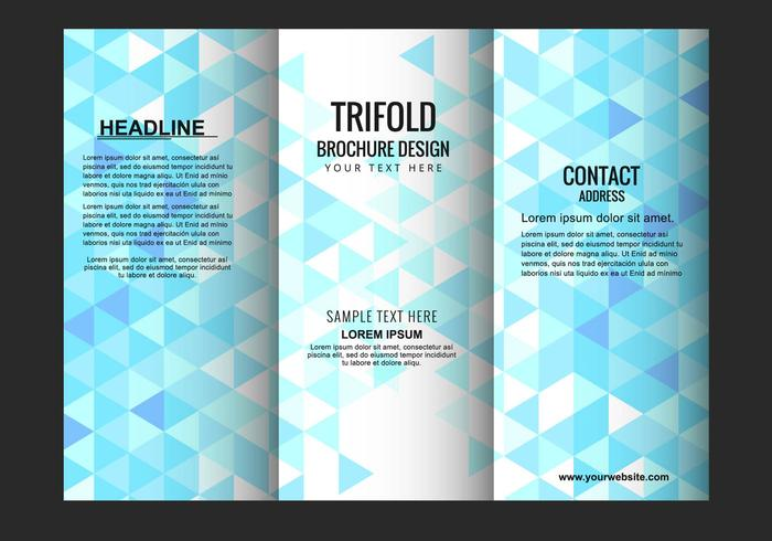 Vector Trifold Brochure Template Download Free Vector