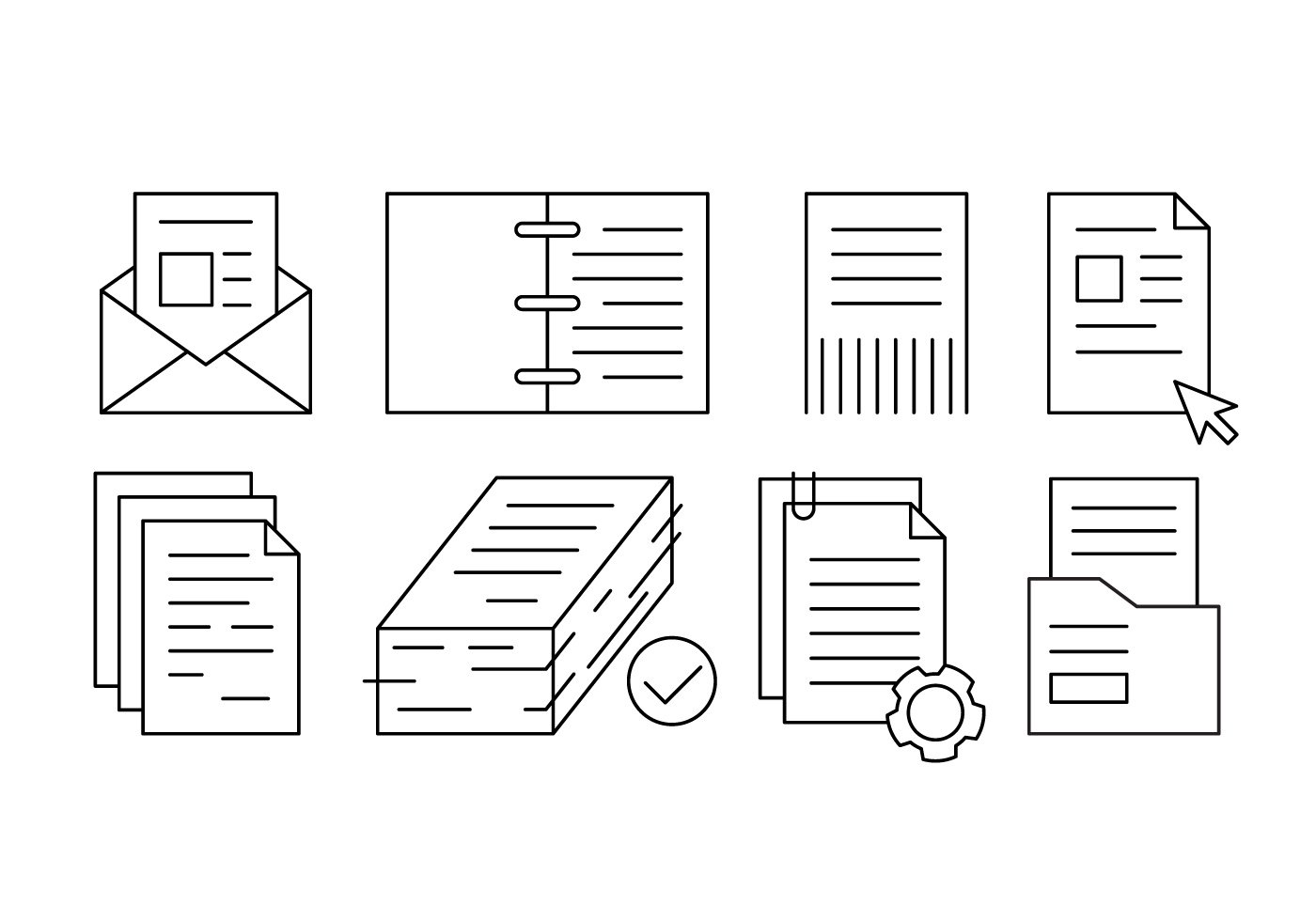 Paper Icons Free Vector Art