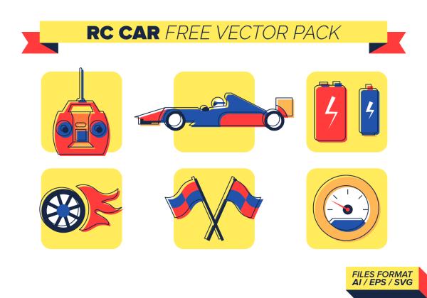Rc Car Free Vector Pack - Art Stock